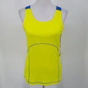 New Tail Medium Sport Bra Yellow Blue Modern Fit